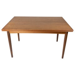 Dining Table in Teak with Extensions of Danish Design from the 1960s