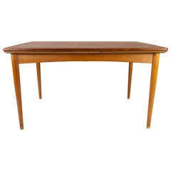 Dining Table in Teak with Extentions and Legs in Oak, of Danish Design, 1960s