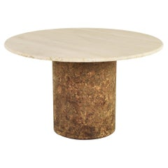 Dining Table in Travertine and Cork from the 1960's