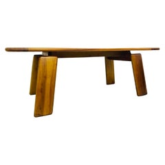 Dining Table in Walnut by Afra & Tobia Scarpa, Italy, 1980s