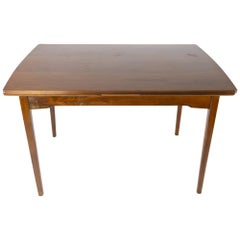 Dining Table in Walnut with Extension of Danish Design from the 1960s