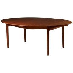 """Dining Table """"Judas"""" Designed by Finn Juhl for Niels Vodder, Denmark, 1948"""