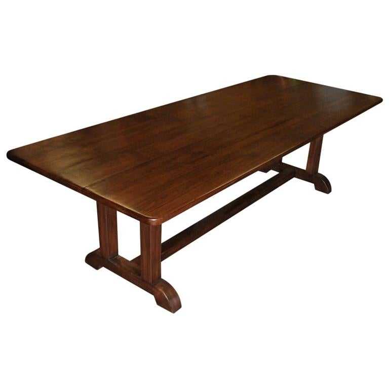 Dining Table Made from Vintage Black Walnut, Built to Order by Petersen Antiques For Sale