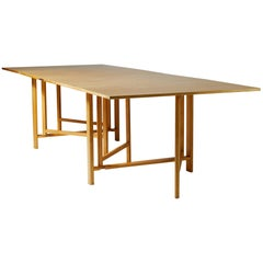 "Dining Table ""Maria Flap"" Designed by Bruno Mathsson for Mathsson International"
