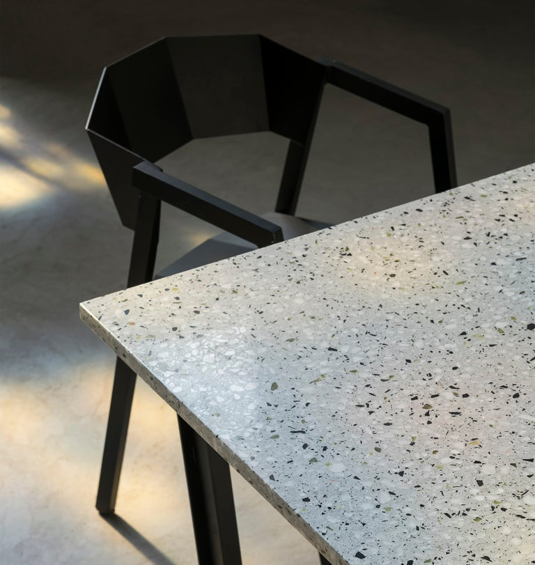 Chinese Dining Table 'Nian' Made of Terrazzo and Steel For Sale