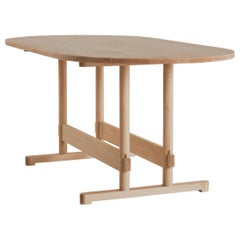 Dining Table No. 2 by Campagna Modern Minimal Shaker Inspired Wood Trestle Table