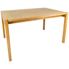 Dining Table of Oak and Cork of Danish Design from the 1970s