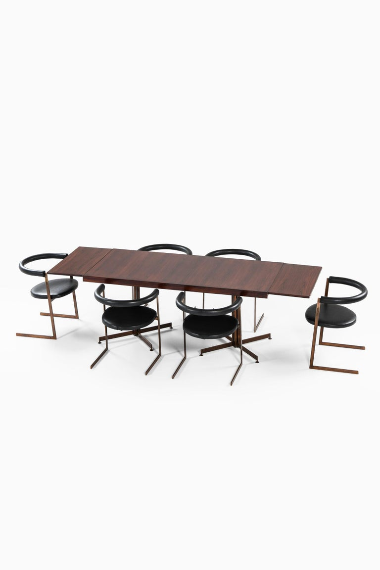 Bronze Dining Table Produced in Italy For Sale