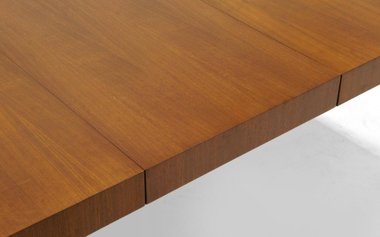 Dining Table, Walnut with Black Ends and Legs by Metropolitan For Sale 1