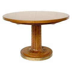 Dining Table with 2 Extensions by T.H. Robsjohn-Gibbings Klismos for Saridis