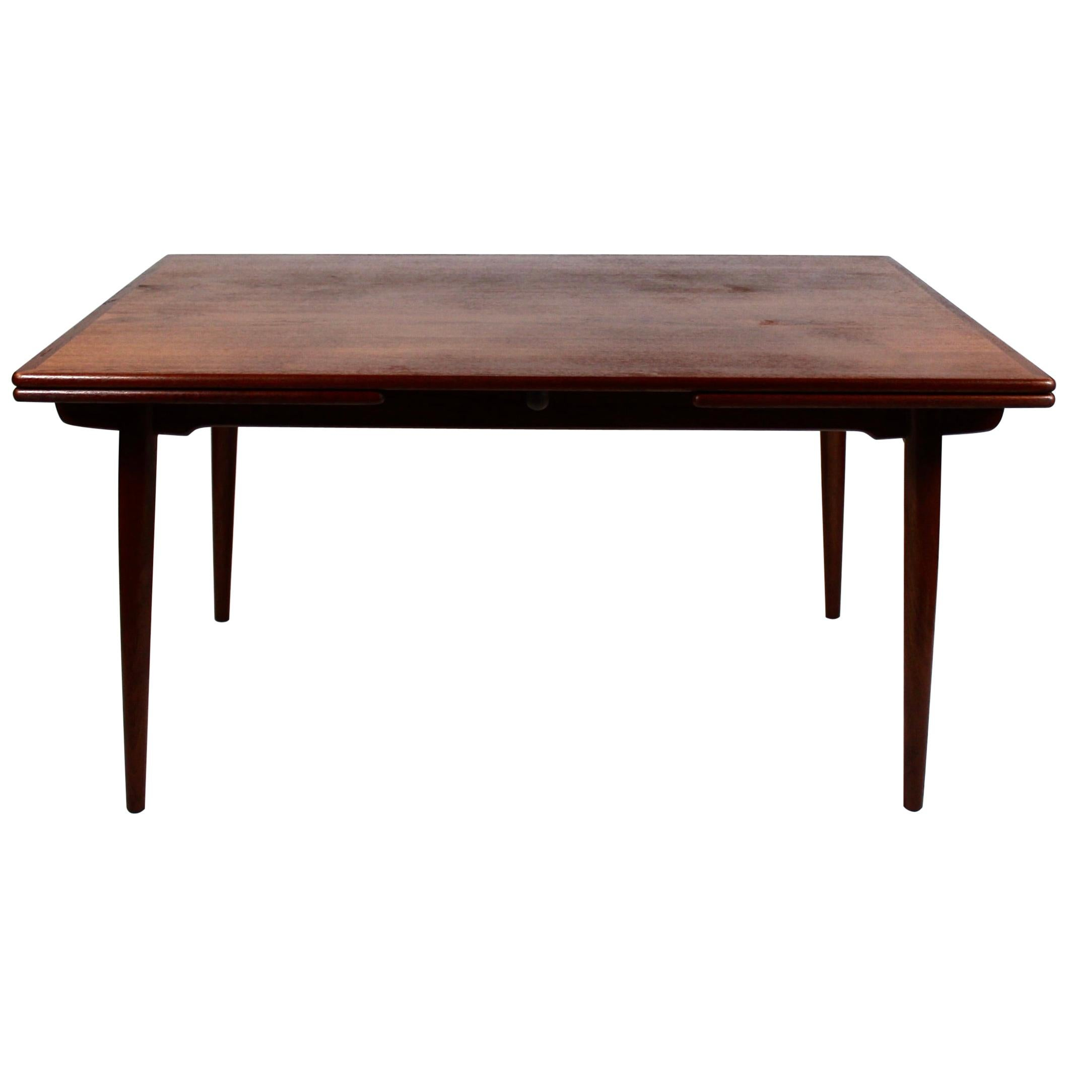 Dining Table with Extensions in Teak Designed by Hans J. Wegner, 1960s