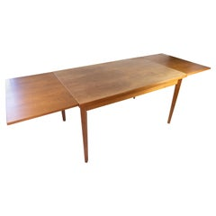 Dining Table with Extensions in Teak of Danish Design from the 1960s