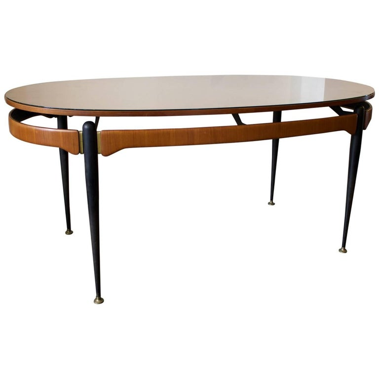Dining Table with Sunburst Top Attributed to Silvio Cavatorta, Italy, 1950s For Sale 3