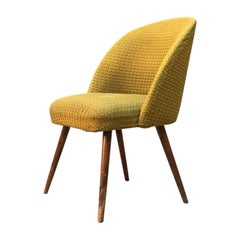 Danish Beech and Green Fabric Armchair, 1960s