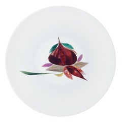 Dinner Plate by the French Chef Alain Passard, Limoges Porcelain