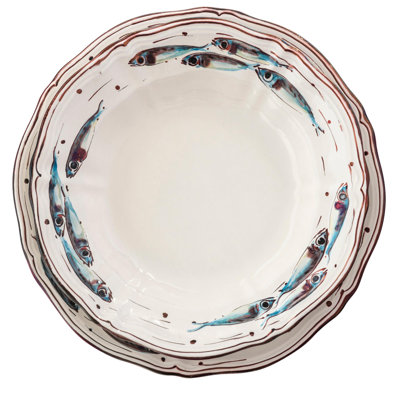 Dinnerware '12 pieces' by Bottega Vignoli Hand Painted Glazed Earthenware