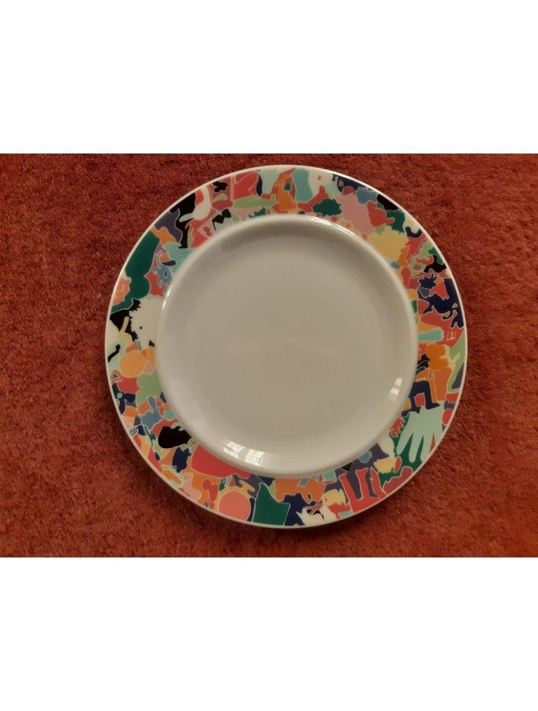 Dinnerware Set by A. Boetti and E. Sottsass for Alessi Tendentse, Italy For Sale 5