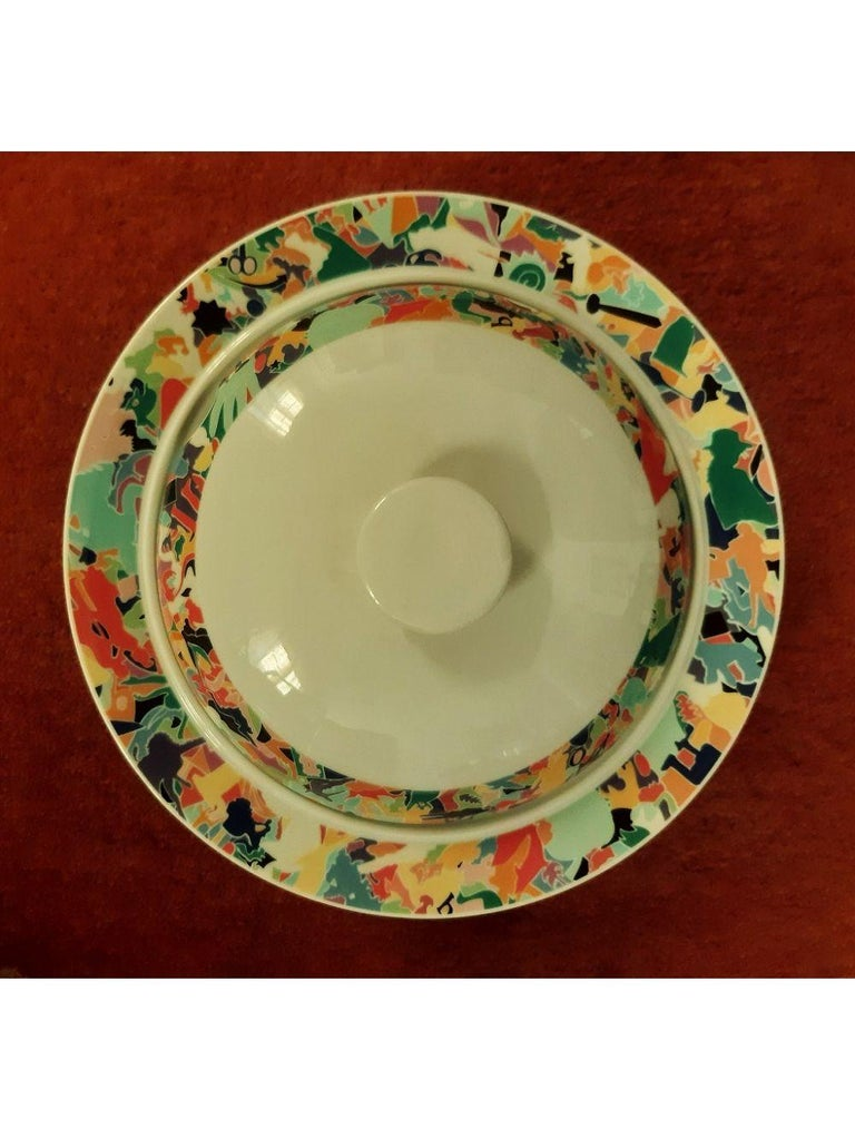 Dinnerware Set by A. Boetti and E. Sottsass for Alessi Tendentse, Italy For Sale 8