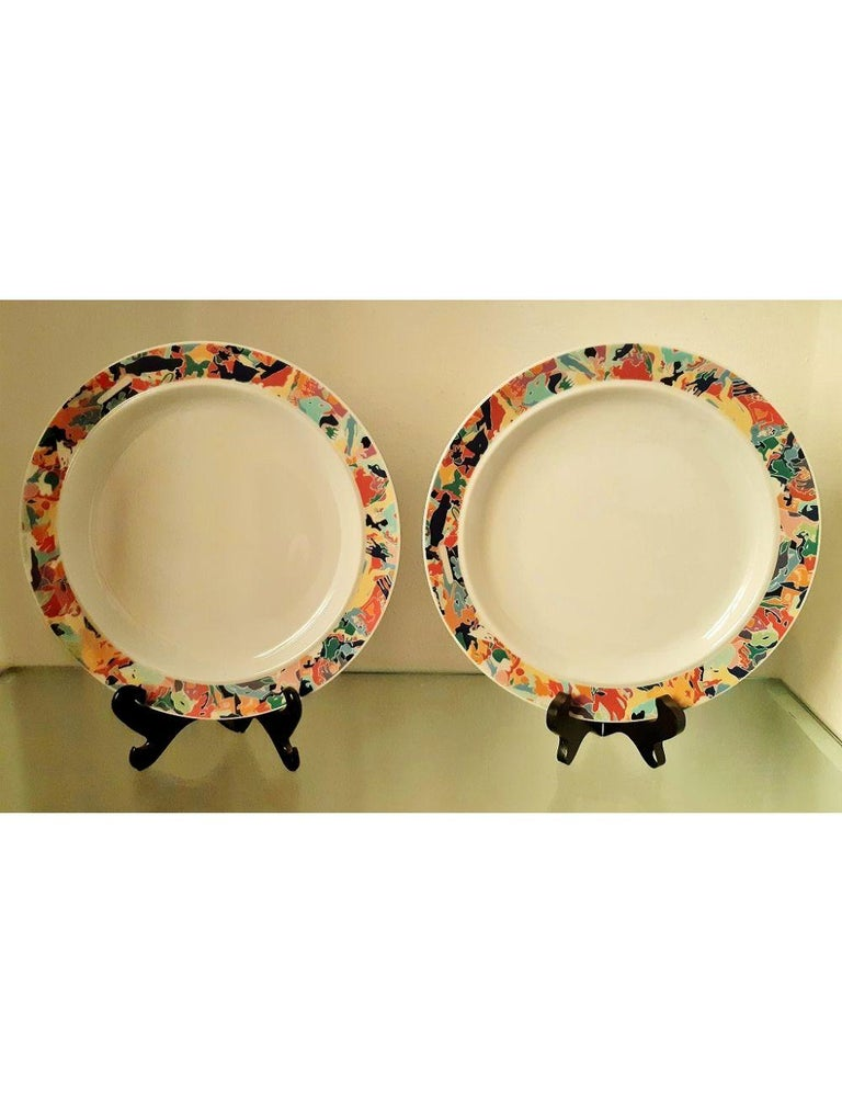 Dinnerware Set by A. Boetti and E. Sottsass for Alessi Tendentse, Italy For Sale 10