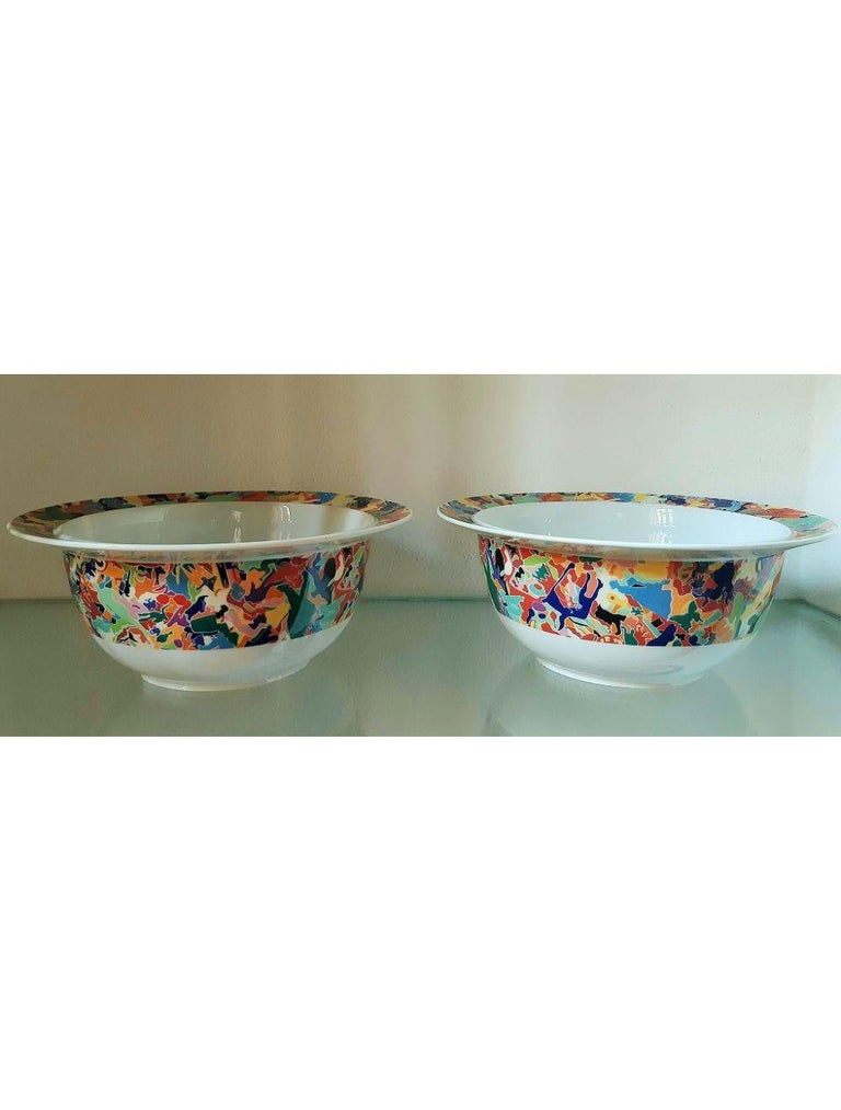 Italian Dinnerware Set by A. Boetti and E. Sottsass for Alessi Tendentse, Italy For Sale