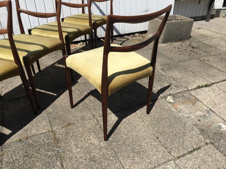 Dinning Chairs in Rosewood. Designer by H.W. Klein 1