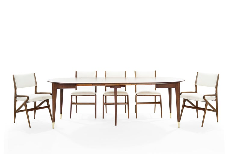 Mid-Century Modern Dining Room Set by Gio Ponti for M. Singer & Sons, circa 1950s For Sale