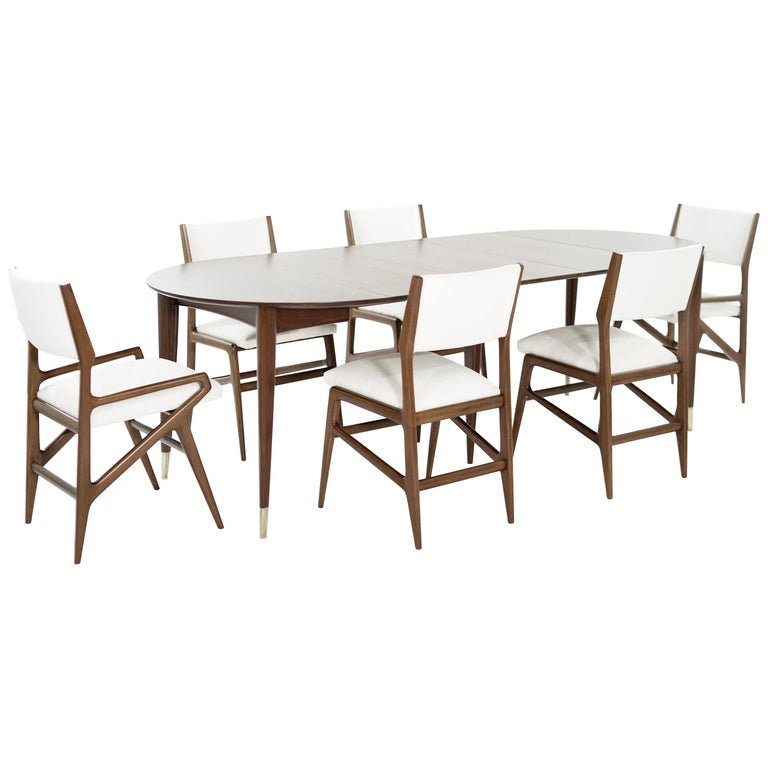 Dining Room Set by Gio Ponti for M. Singer & Sons, circa 1950s For Sale