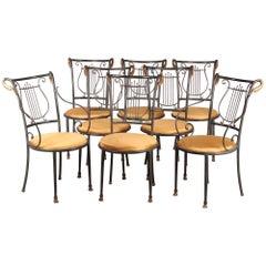 Dinning Set of Maison Jansen Style Chairs