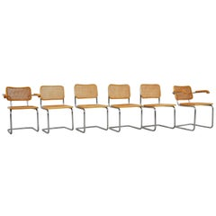 Dinning Style Chairs B32 by Marcel Breuer, 1980s
