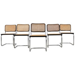 Dinning Style Chairs B32 by Marcel Breuer Set 5