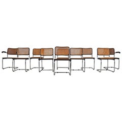 Dinning Style Chairs B32 by Marcel Breuer, Set of 10