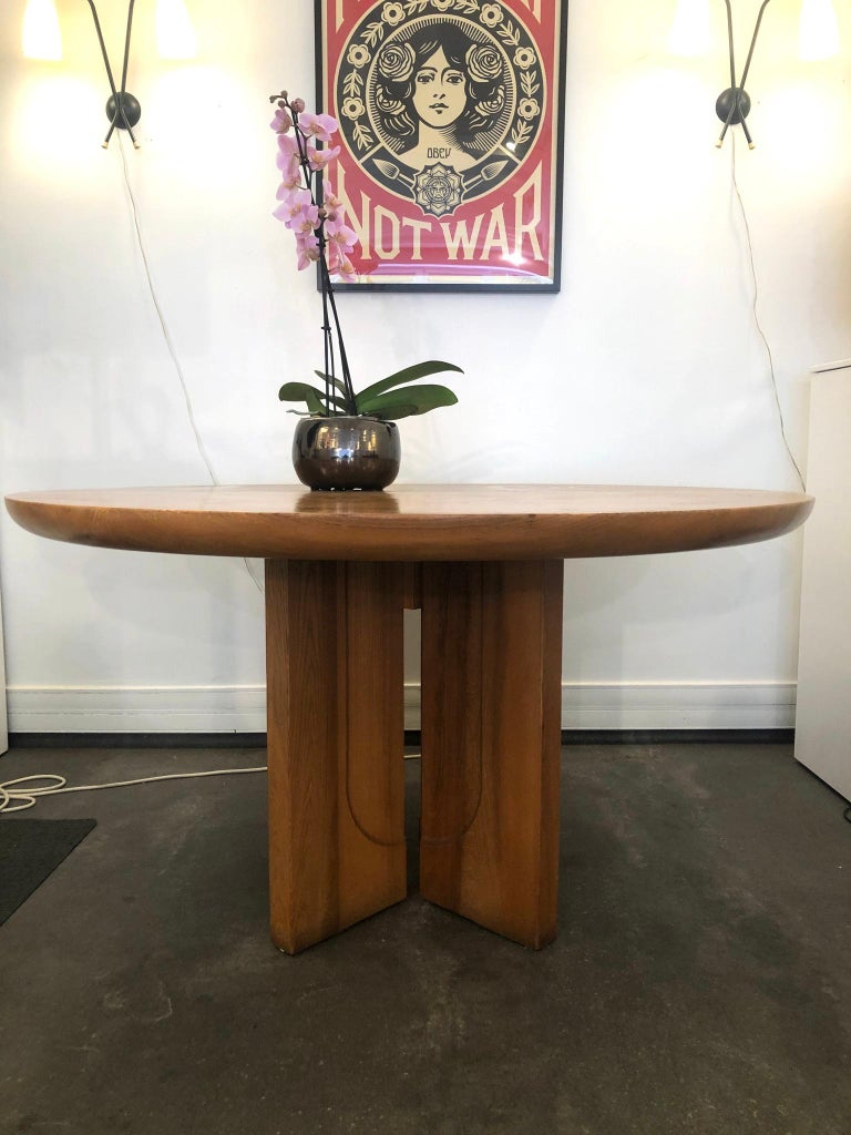 Woodwork Dining Table by Luigi Gorgoni, 1974 For Sale