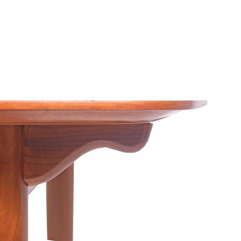 Walnut Dining Table Design by Finn Juhl Mfg. Baker Model #560 For Sale