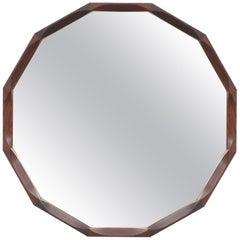 Dino Cavalli Walnut Mirror, Midcentury, Italy