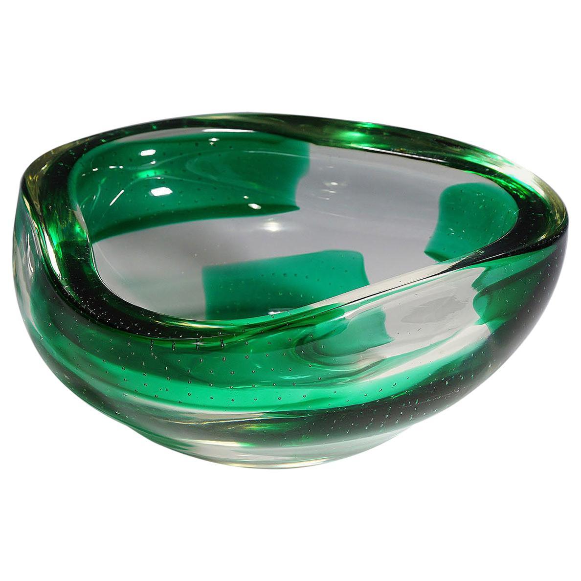Dino Martens for Aureliano Toso Coppa Pesante Glass Bowl, 1940s