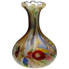 Dino Martens Murano Glass Italian Tutti Fruiti Vase, 1950s