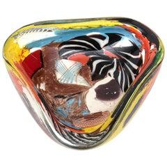 Dino Martens Murano Oriente Glass Bowl Vintage Rare