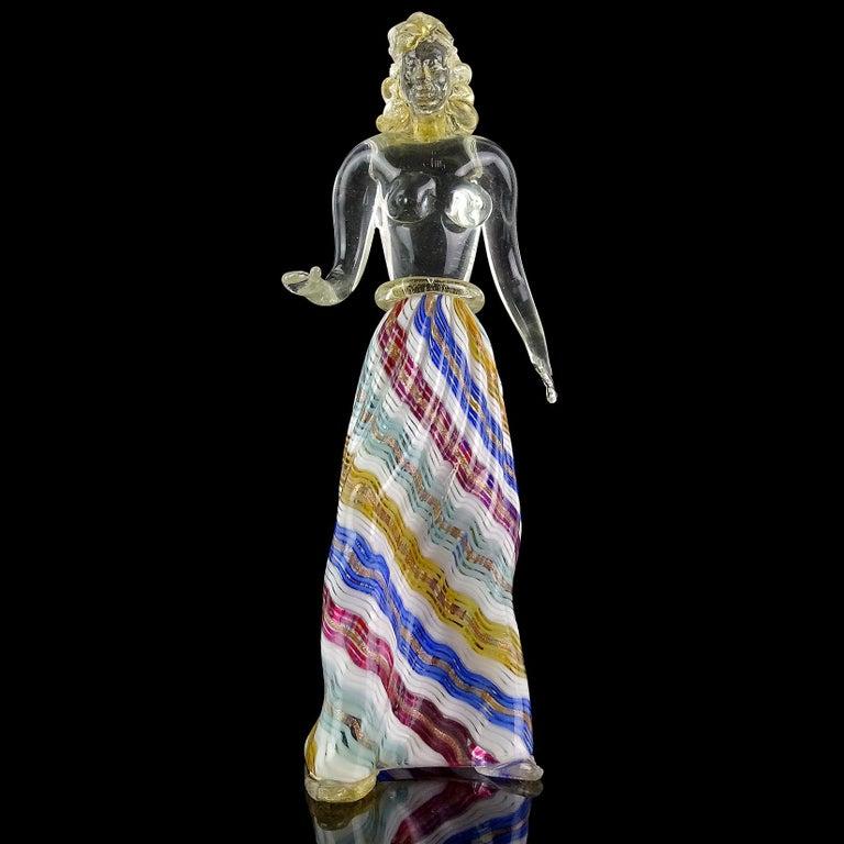Dino Martens Murano Zig Zag Ribbons Skirt Italian Art -9917