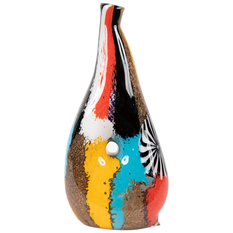 """Dino Martens """"Oriente"""" Murano Glass Vase for Aurieliano Toso"""
