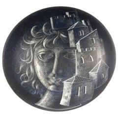 Diodoro Cossa Italian Carved Porcelain Bowl