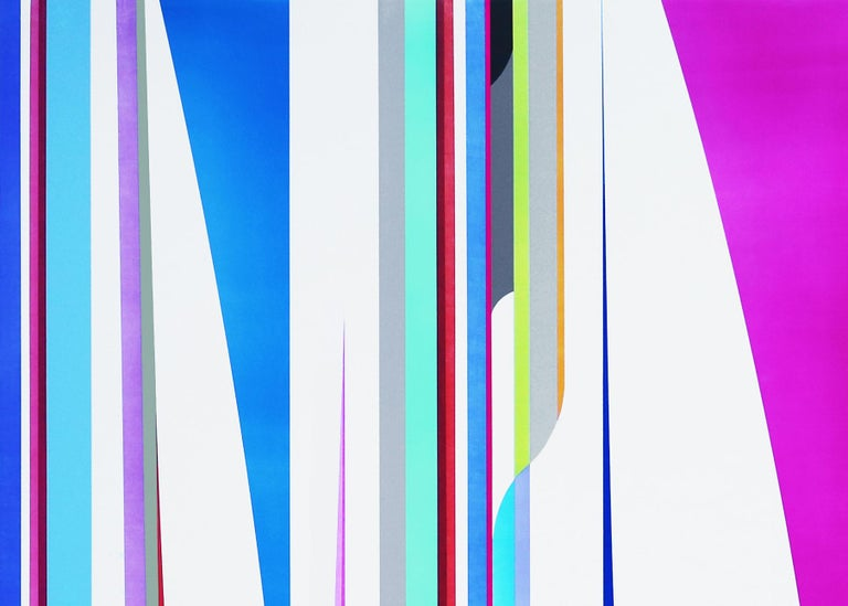 Time Travel - Abstract Geometric Painting by Dion Johnson