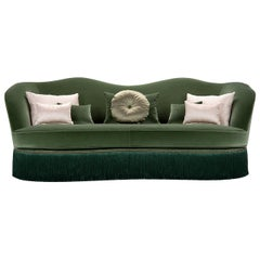 Dione Green 3-Seater Sofa