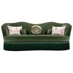 Dione Green 3-Seater Sofa