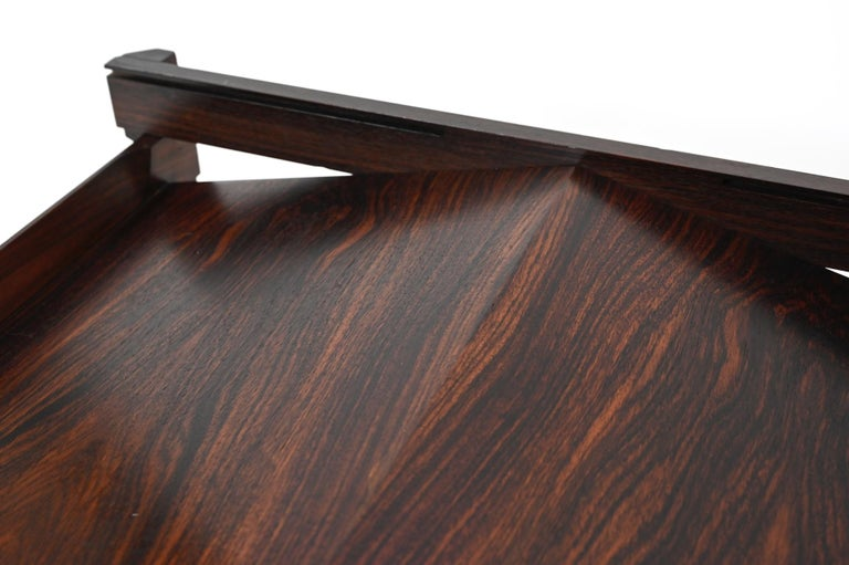 'Dione' Rosewood Coffee Table and Magazine Rack by Ico Parisi for Stildomus For Sale 2