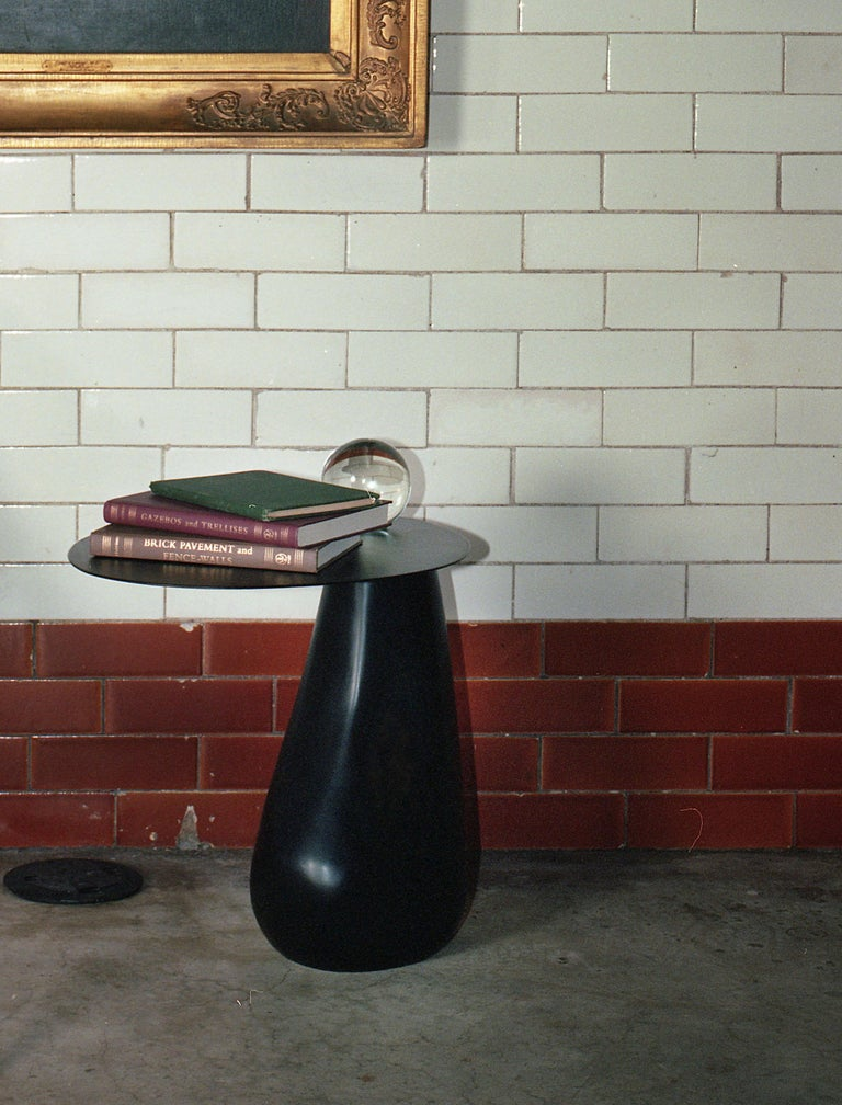 Dionis Side Table in Blackened Steel For Sale 2