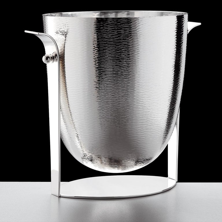 Italian Dioniso Champagne Silver Bucket For Sale