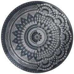 Dionysus Round Mosaic Panel by Mutaforma