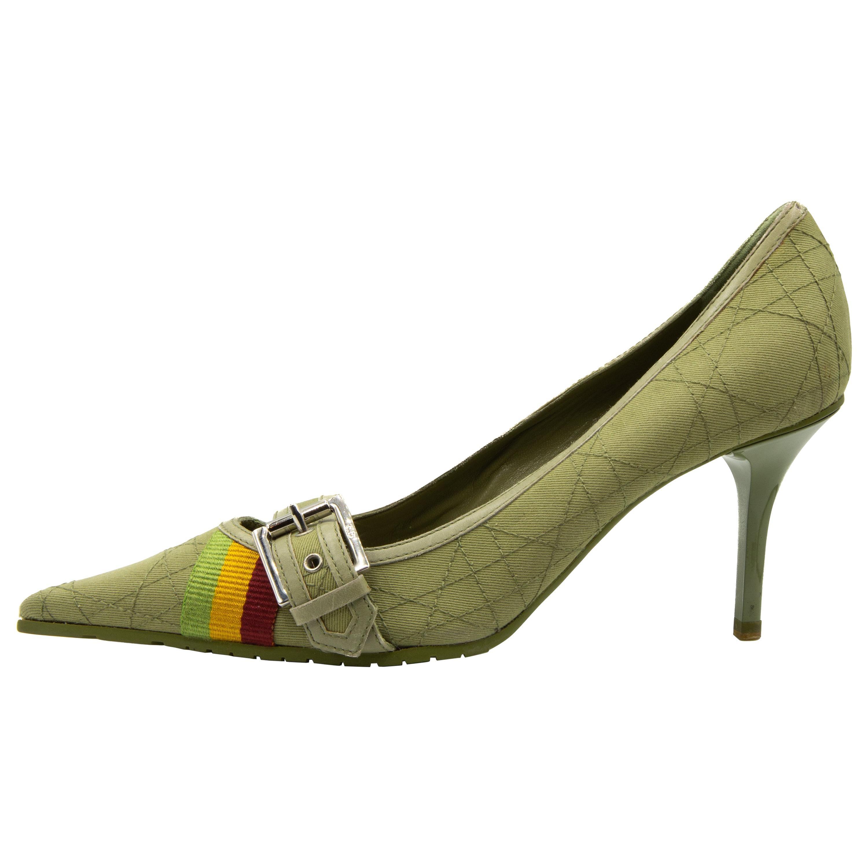 Dior 2004 Rasta Collection Heels