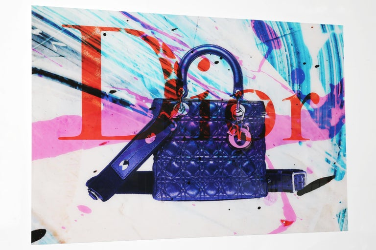 Wall decoration bag plexiglass photo in the style of Dior.