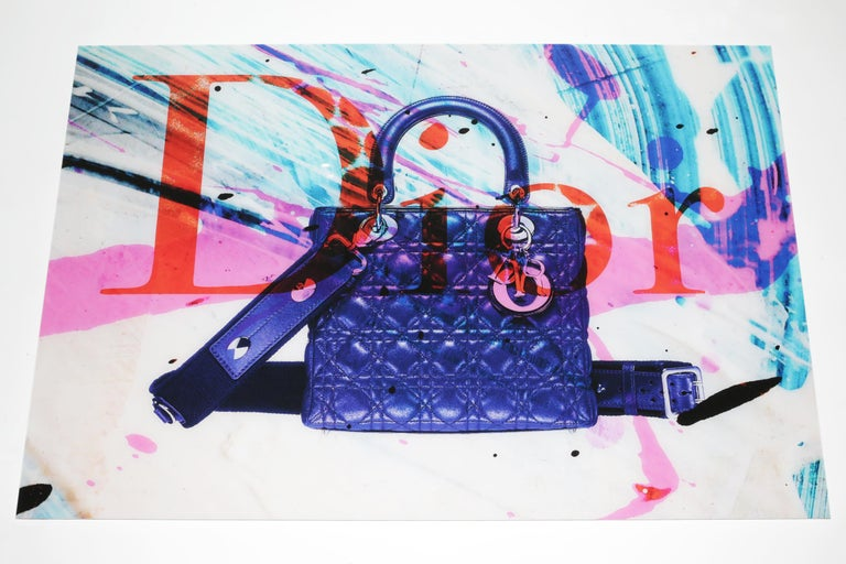 Dutch Bag Plexiglass Wall Decoration in the Style of Dior For Sale